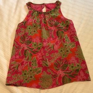 Lilly Pulitzer Floral Silk Top